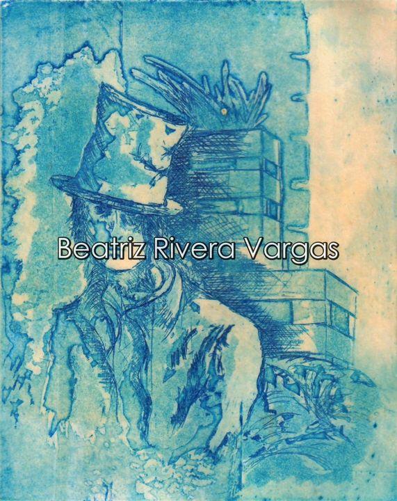 Down the Alley - Beatriz Rivera Vargas Fine Art