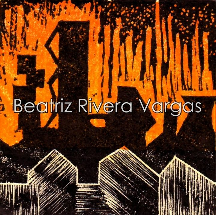 With the eyes aflamed - Beatriz Rivera Vargas Fine Art