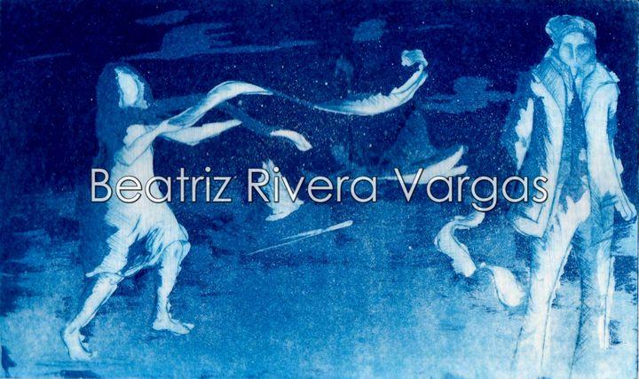 M.A. in Blue - Beatriz Rivera Vargas Fine Art