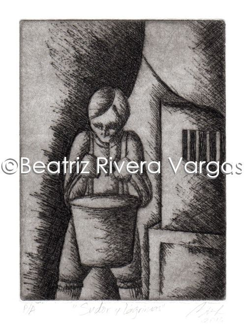 Sweat and Tears - Beatriz Rivera Vargas Fine Art