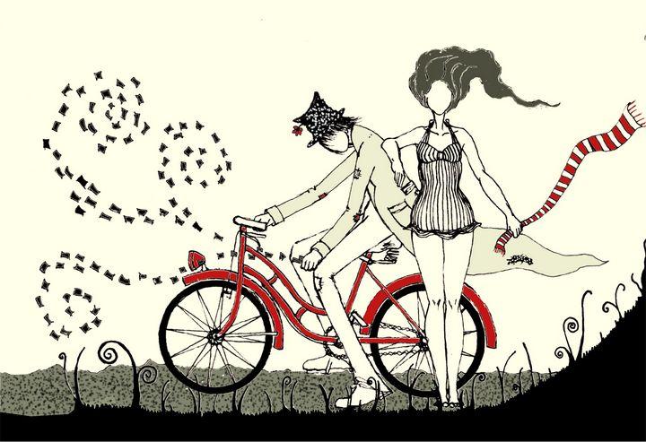 Couple - dichromatic - Beatriz Rivera Vargas Fine Art