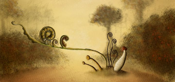 In the forest - Beatriz Rivera Vargas Fine Art