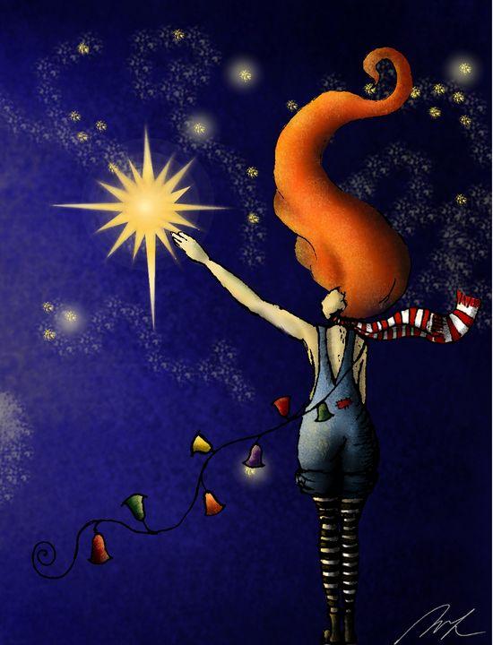Reaching a star - Beatriz Rivera Vargas Fine Art