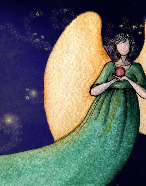 Cosmic Angel - Beatriz Rivera Vargas Fine Art