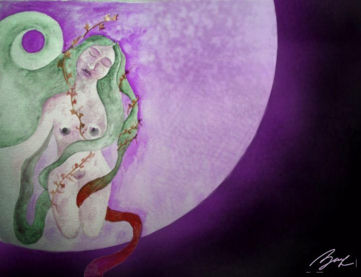 Full Moon - Beatriz Rivera Vargas Fine Art
