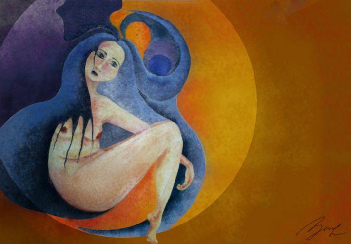 New Moon - Beatriz Rivera Vargas Fine Art