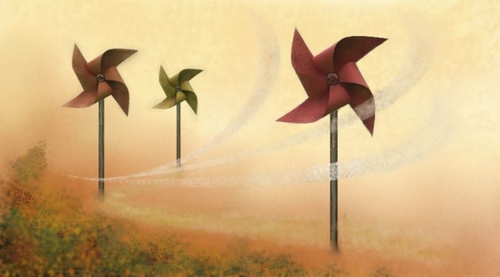 Windmills and air - Beatriz Rivera Vargas Fine Art