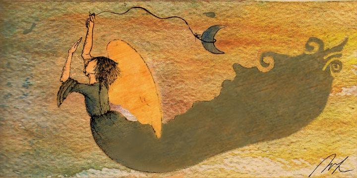 Blue Angel - Beatriz Rivera Vargas Fine Art