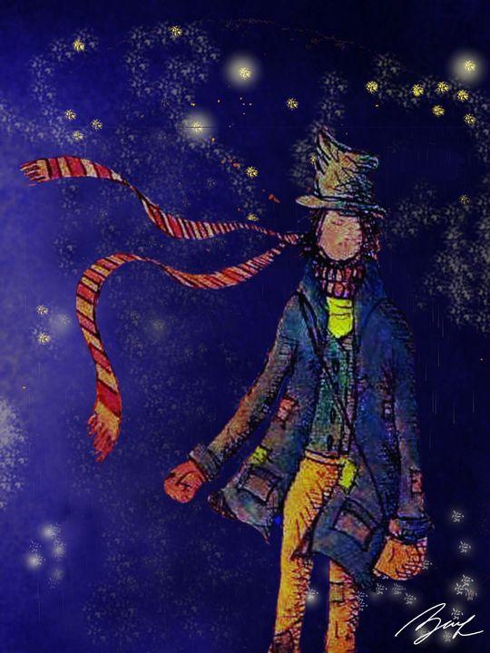 Peddler Catching Stars - Beatriz Rivera Vargas Fine Art