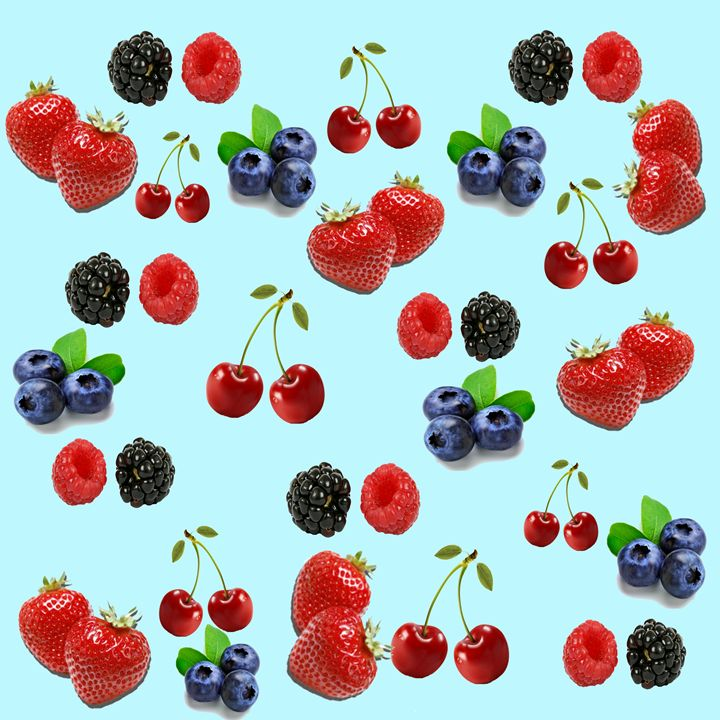 Strawberry blueberry blackberry rasp - Gareth Store