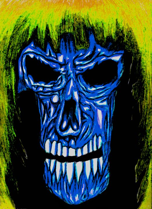 Blue Skull Face - Gareth Store
