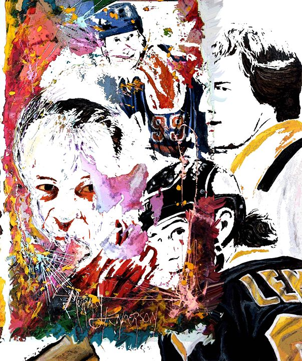 Hockey greatz - Murray Henderson's art