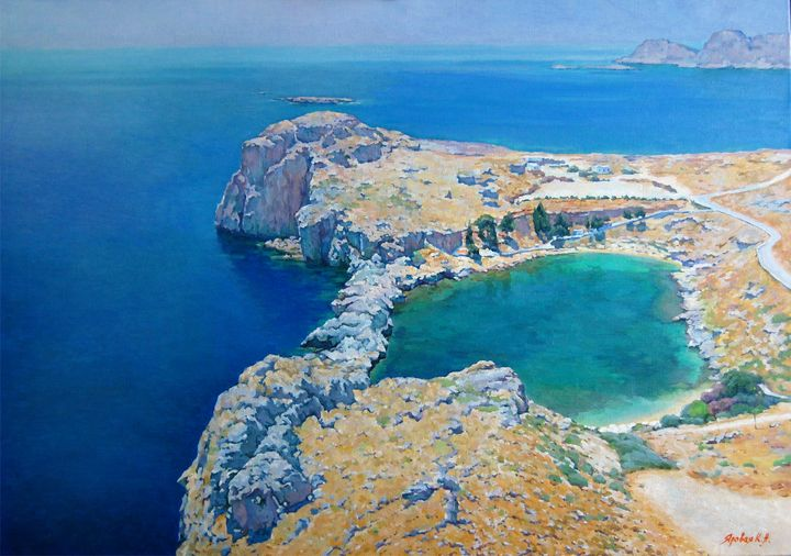 Emerald lagoon. Rodos - Ksenia Yarovaya