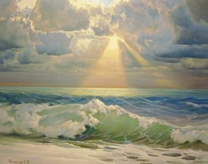 Angel over the sea