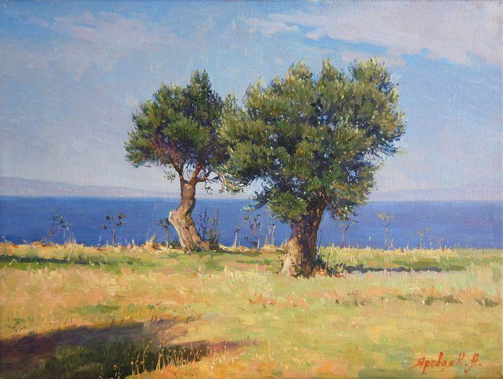 Olives near the sea - Ksenia Yarovaya