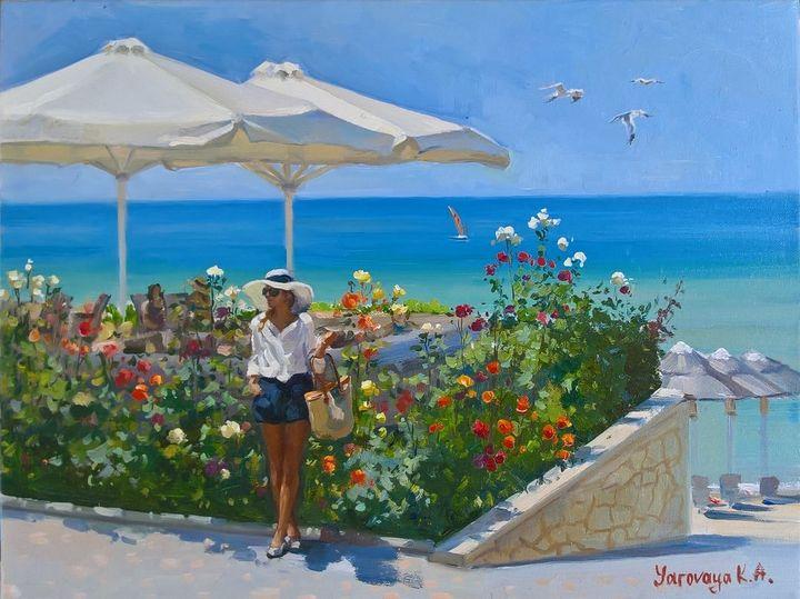 Greek holidays - Ksenia Yarovaya