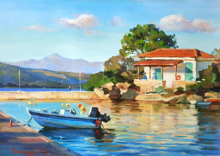 ⚓ House at the pier. Lagonissi ⚓ - Ksenia Yarovaya