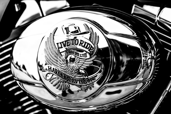 Live to Ride B/W - Mike Babic Photography