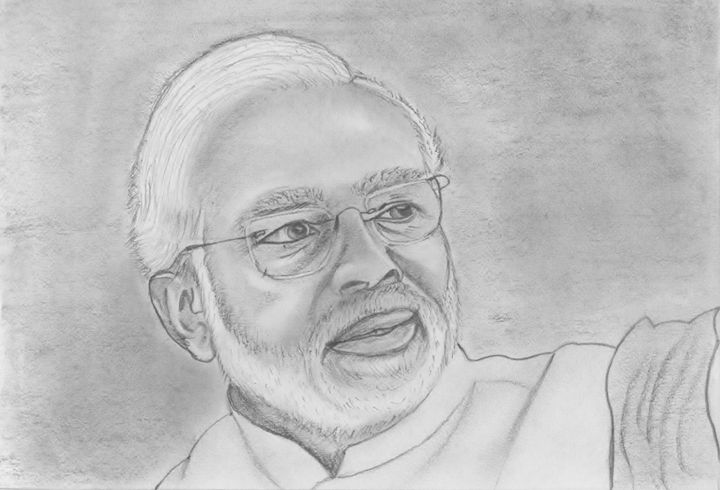 Narendra Modi - Shami - Drawings & Illustration, People ...
