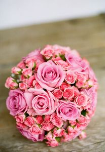 Bridal pink bouquet
