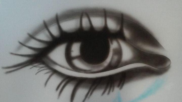Gray crying eye - Impresonarte