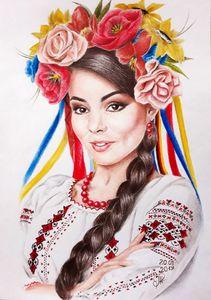 Sandra in Ukrainian style