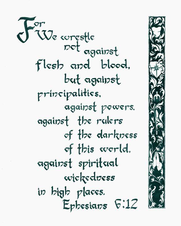 Ephesians 6:12 - Crystal Newton