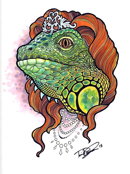 Lizard Queen - Tim Pangburn Art
