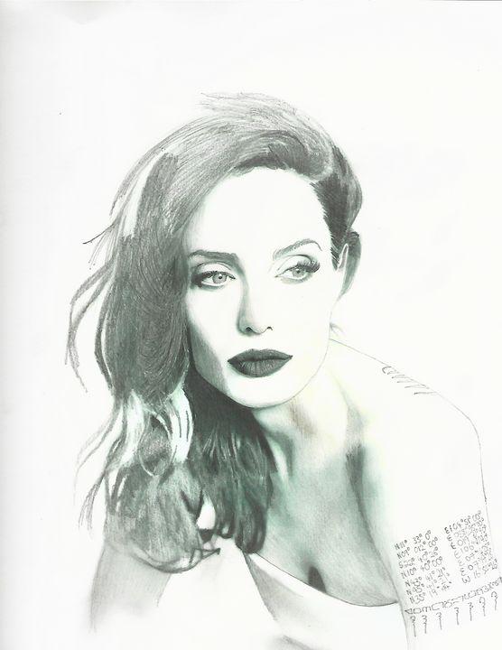 Drawing of Angelina Jolie - P.