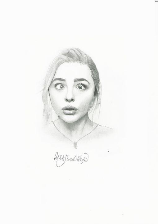 Drawing of Chloe Grace - P.