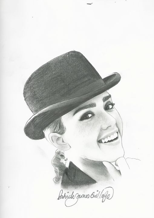Drawing of Jessica Alba - P.