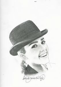 Drawing of Jessica Alba