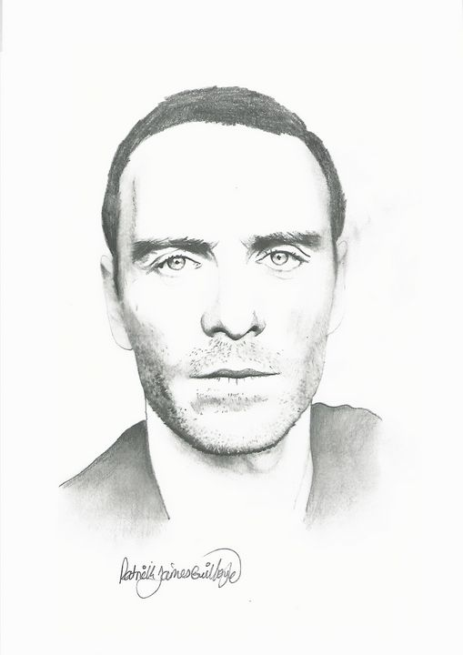Drawing of Micheal Fassbender - P.