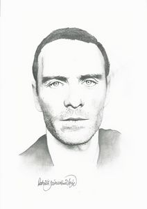 Drawing of Micheal Fassbender