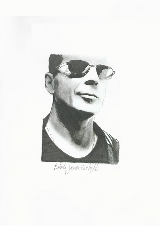 Drawing of Bruce Willis - P.