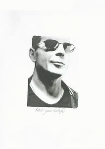 Drawing of Bruce Willis