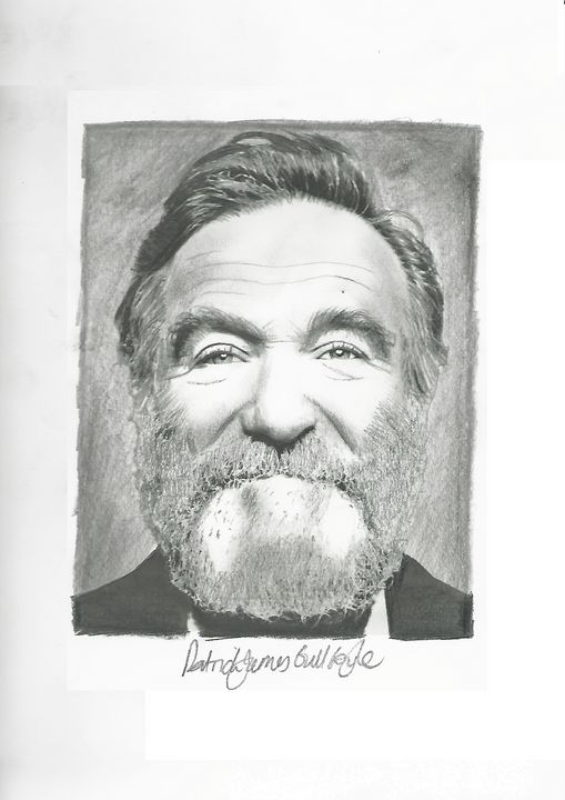 Drawing of Robin Williams - P.