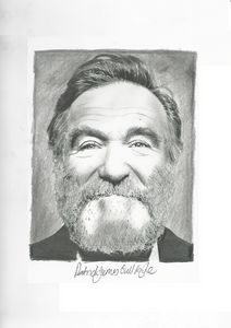 Drawing of Robin Williams