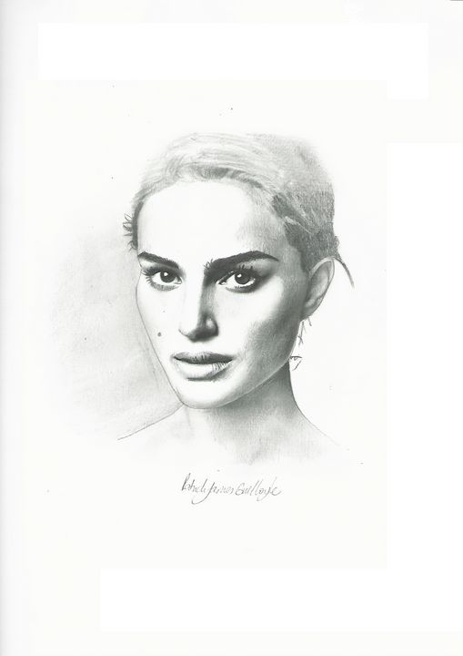 Drawing of Natalie Portman - P.