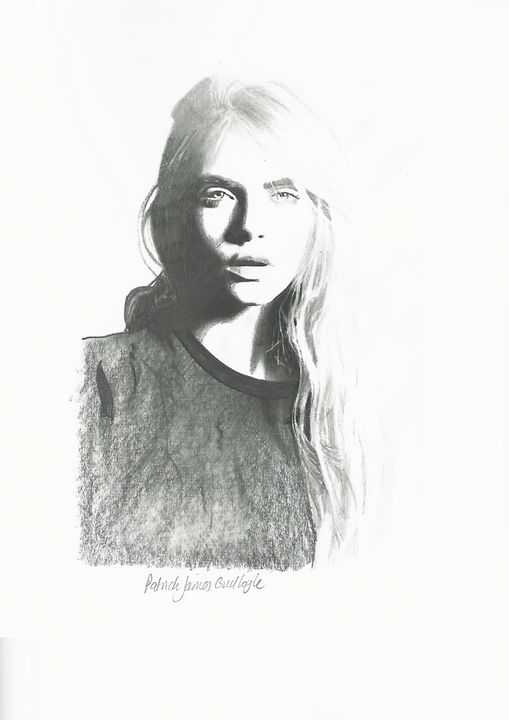Drawing of Cara Delevingne - P.