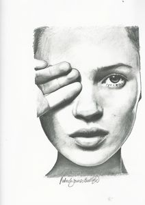 Drawing of Kate Moss