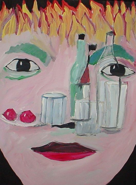 Face through bottles - Shamus Blues