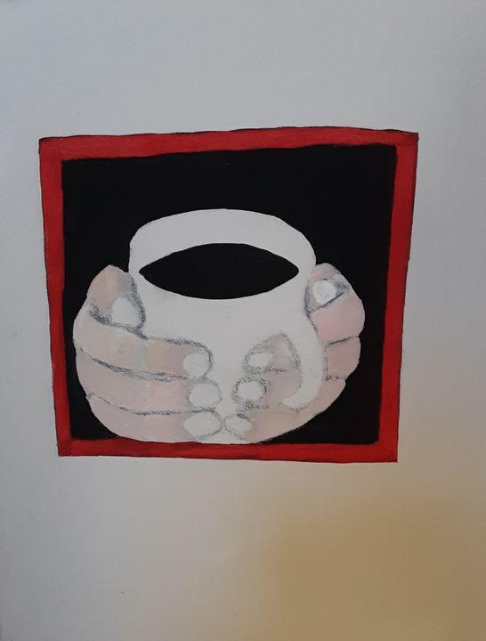 Cupping coffee - Shamus Blues