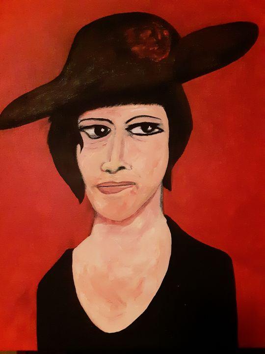 Lady in Rose hat - Shamus Blues