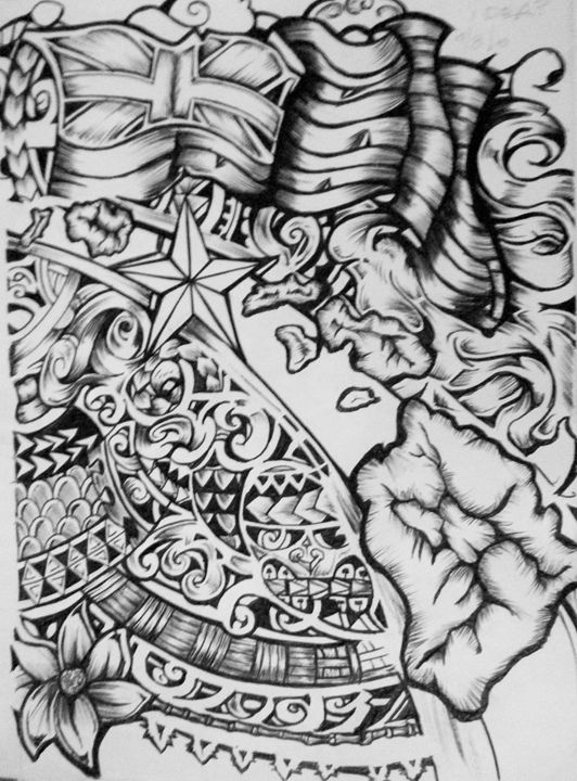 c35de95be POLYNESIAN FLOW - INK_BY_REY - Drawings & Illustration, Ethnic ...