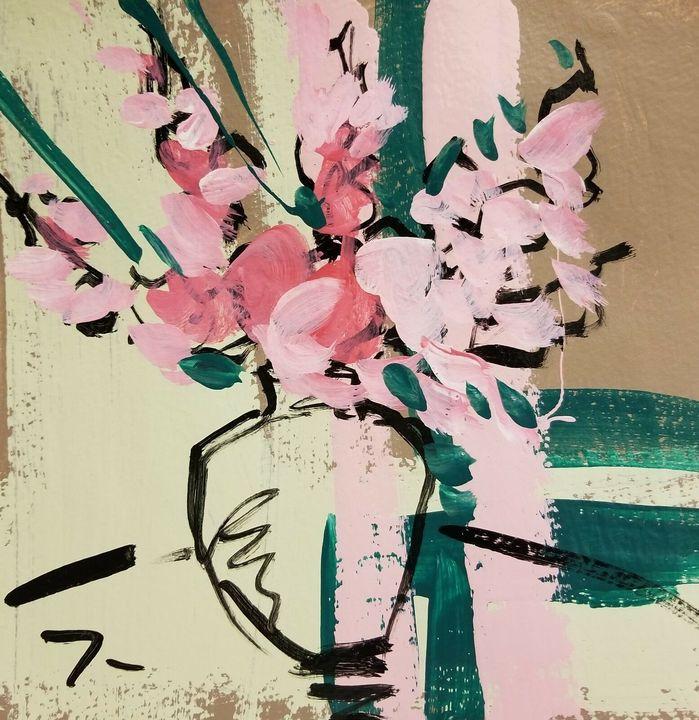 Jose Trujillo Modernist Floral Art - Jose Trujillo Fine Art