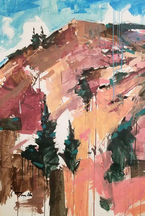 Jose Trujillo Mountain Landscape New - Jose Trujillo Fine Art