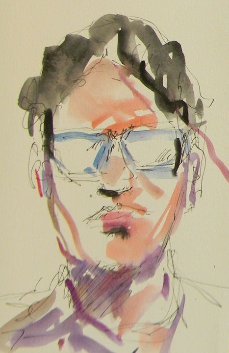 Trujillo Male Portrait Watercolor - Jose Trujillo Fine Art