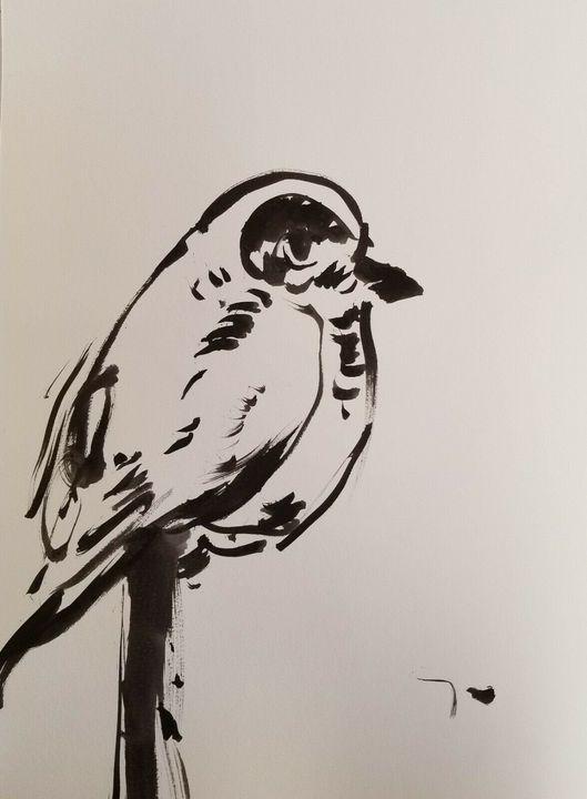 Jose Trujillo Minimalist Bird - Jose Trujillo Fine Art