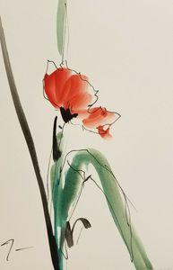 Jose Trujillo Expressionist Poppy